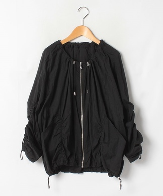 【Lallia Mu】袖シャーリングジャケット