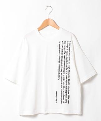 【PUPULA】メッセージ刺繍Tシャツ