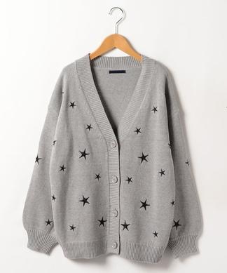 【PAULINE BLEU】スター刺繍カ-ディガン