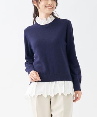 【NEMIKA×T.】レース使いセーター