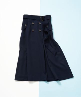 【NEMIKA×T.】ベルト付きフレアースカート