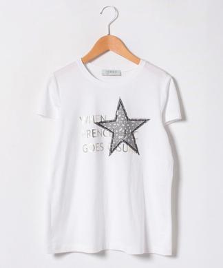 ロゴ×スター刺繍Tシャツ