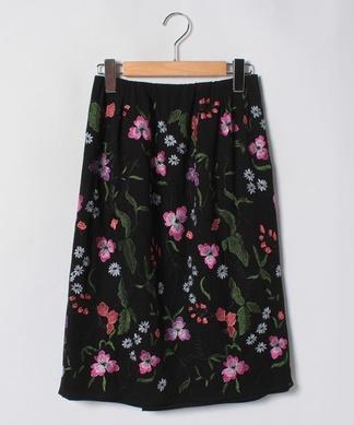 【特別提供品】フラワー刺繍タイトスカート