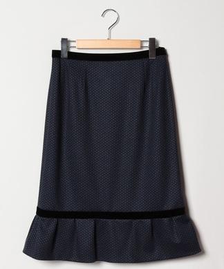 【セットアップ対応商品】ドットミディスカート