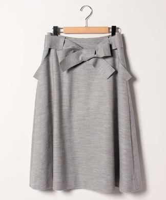 リボンフレアスカート