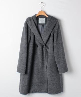 【特別提供品】アルパカ混フード付きコート
