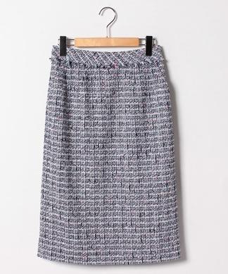 【セットアップ対応商品】ツイードタイトスカート