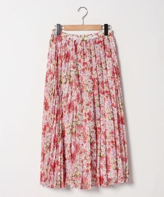 花柄プリ-ツスカ-ト