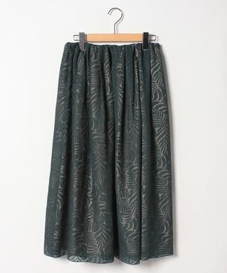 【セットアップ対応商品】ボタニカル柄フレアスカート