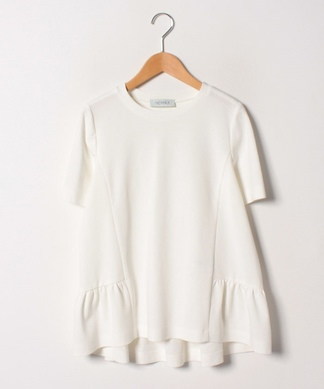 裾フリル半袖Tシャツ