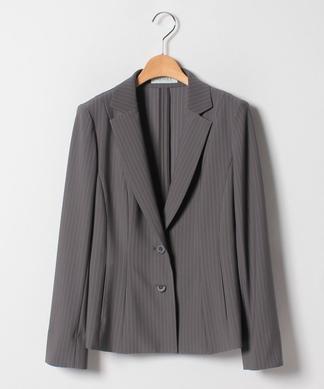 【セットアップ対応商品】ピンストライプ柄テーラードジャケット