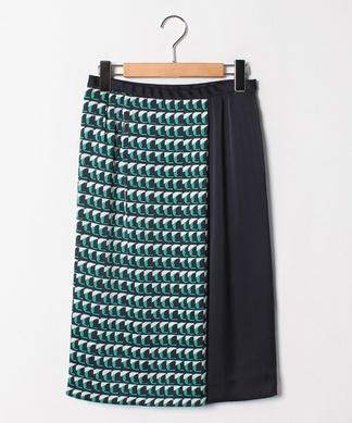 【セットアップ対応商品】幾何学プリントタイトスカート