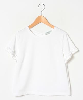 袖フリル半袖Tシャツ