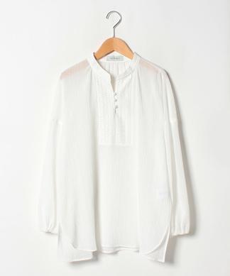 【特別提供品】リーフ刺繍楊柳ブラウス