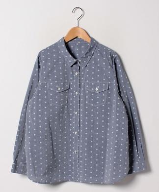 【Lサイズ企画】フラワー刺繍シャツ