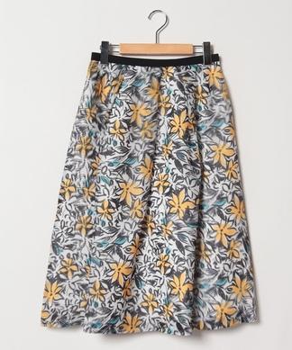 フラワープリントフレアスカート