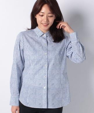 チェック×イカリマークシャツ