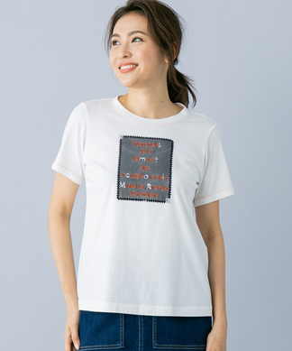 【MUSE BY ROCHAS Premiere】刺繍ロゴTシャツ