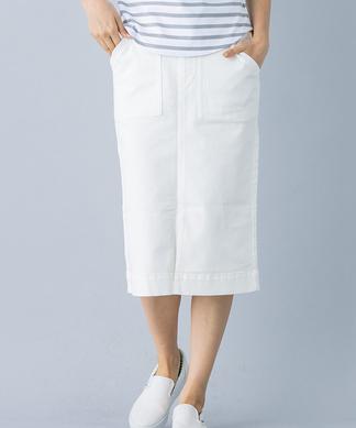 【セットアップ対応商品】ウエストリボンデニムスカート