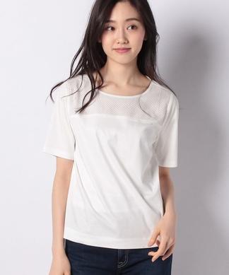 メッシュ切替半袖Tシャツ