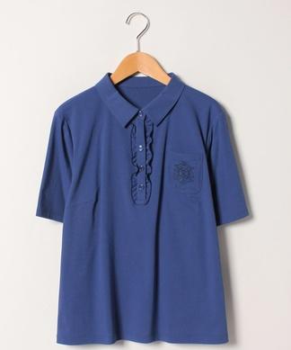 【ROCHAS Premiere】フロントフリルポロシャツ