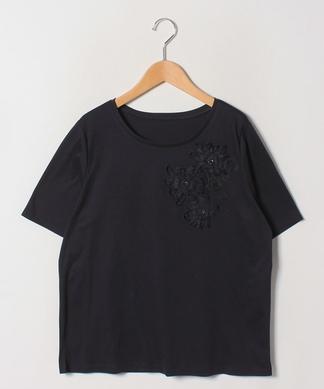 【Lサイズ企画】フラワーモチーフTシャツ