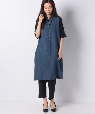 【ROSSO35】配色ロングシャツ