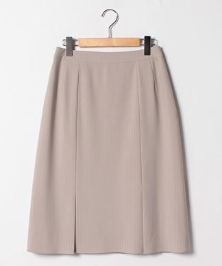 【セットアップ対応商品】ピンストライプ柄ミディ丈スカート