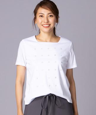 ビジュースクエアモチーフTシャツ