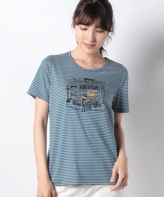 ボーダーモチーフTシャツ
