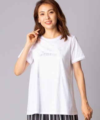 メタリックプリントTシャツ