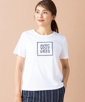 ロゴ刺繍半袖Tシャツ
