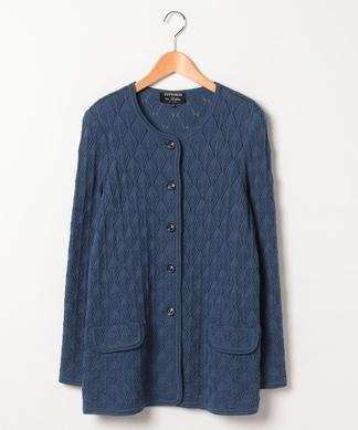 透かし編みニットジャケット