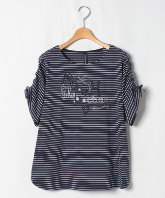【MUSE BY ROCHAS Premiere】ボーダーロゴ Tシャツ