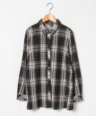 【Lサイズ企画】チェック柄長袖シャツ