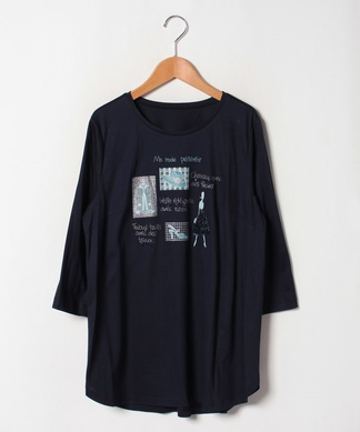 【Lサイズ企画】プリント刺繍Tシャツ
