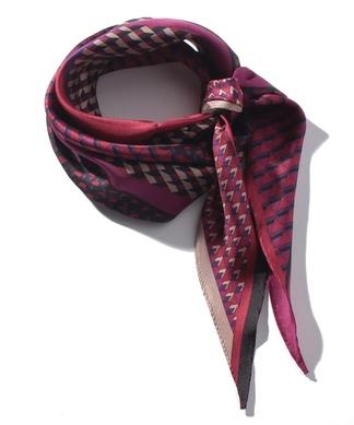 幾何学模様スカーフ