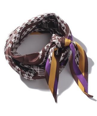 マルチチェック柄スカーフ