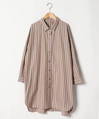 【Lサイズ企画】コットンストライプシャツ