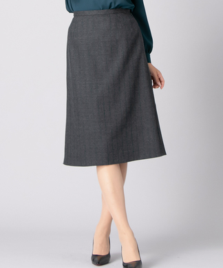 【セットアップ対応商品】ストライプ柄スカート