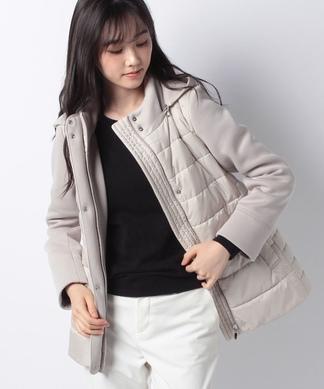 異素材中綿ジャケット