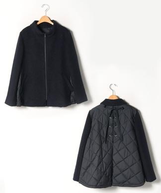 【プラス企画】バックレースアップジャケット