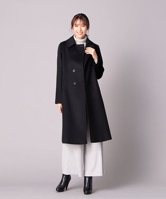 【LORO PIANA】ウエストベルト付ロングコート