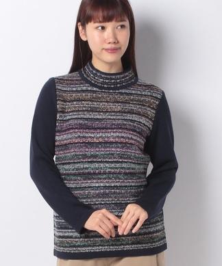 ツイードハイネックセーター