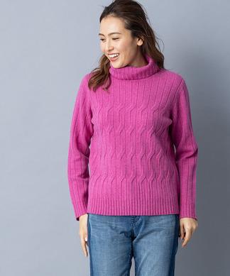 【特別提供品】縄編み柄ニット