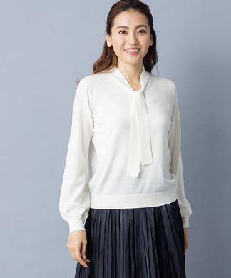 【特別提供品】ボウタイ付きニットインナー