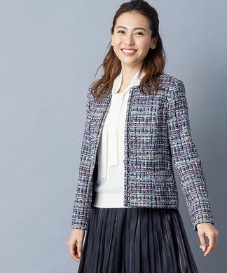 【特別提供品】カラーツイードジャケット