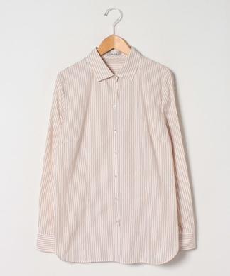 ストライプ柄コットンシャツ