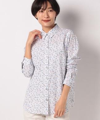 総柄プリント長袖シャツ