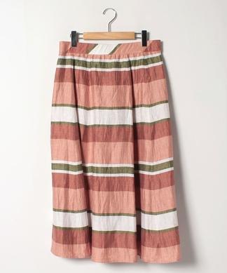 ボーダーロングフレアスカート